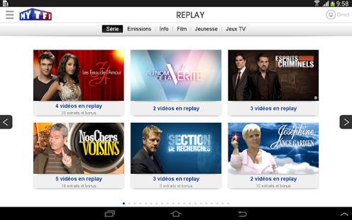 Capture d'écran MyTF1 Android