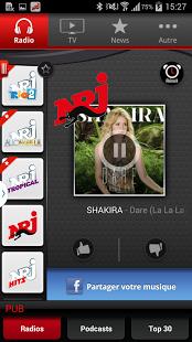 Capture d'écran NRJ France Smartphone