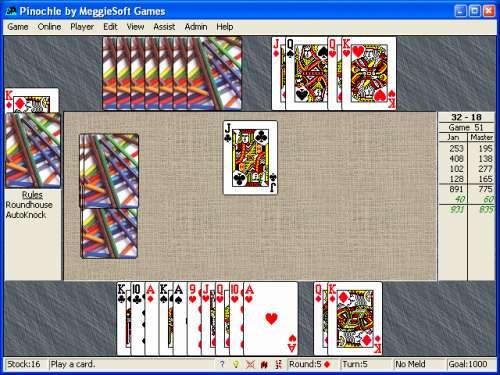 Capture d'écran Pinochle & Bezique by MeggieSoft Games