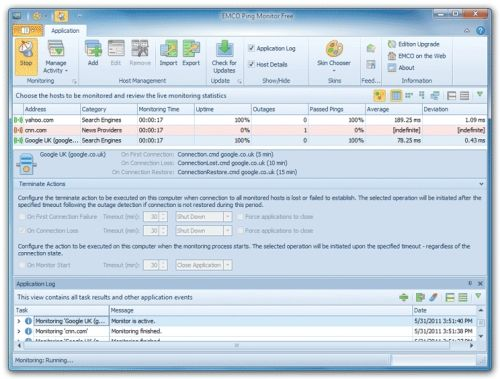 Capture d'écran Ping Monitor Free