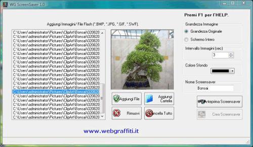 Capture d'écran WG-Screensaver Creator