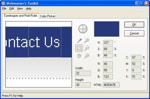 Capture d'écran Webmaster's Toolkit