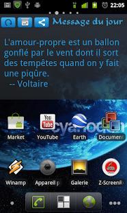 Capture d'écran Message du jour Widget (Free)