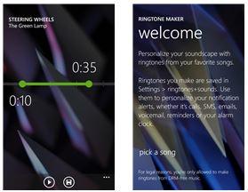 Capture d'écran Créateur de Sonneries Windows Phone