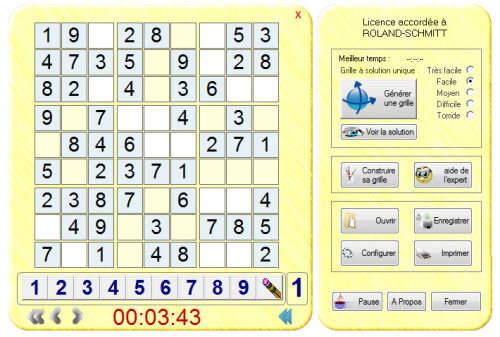 Capture d'écran Sudoku