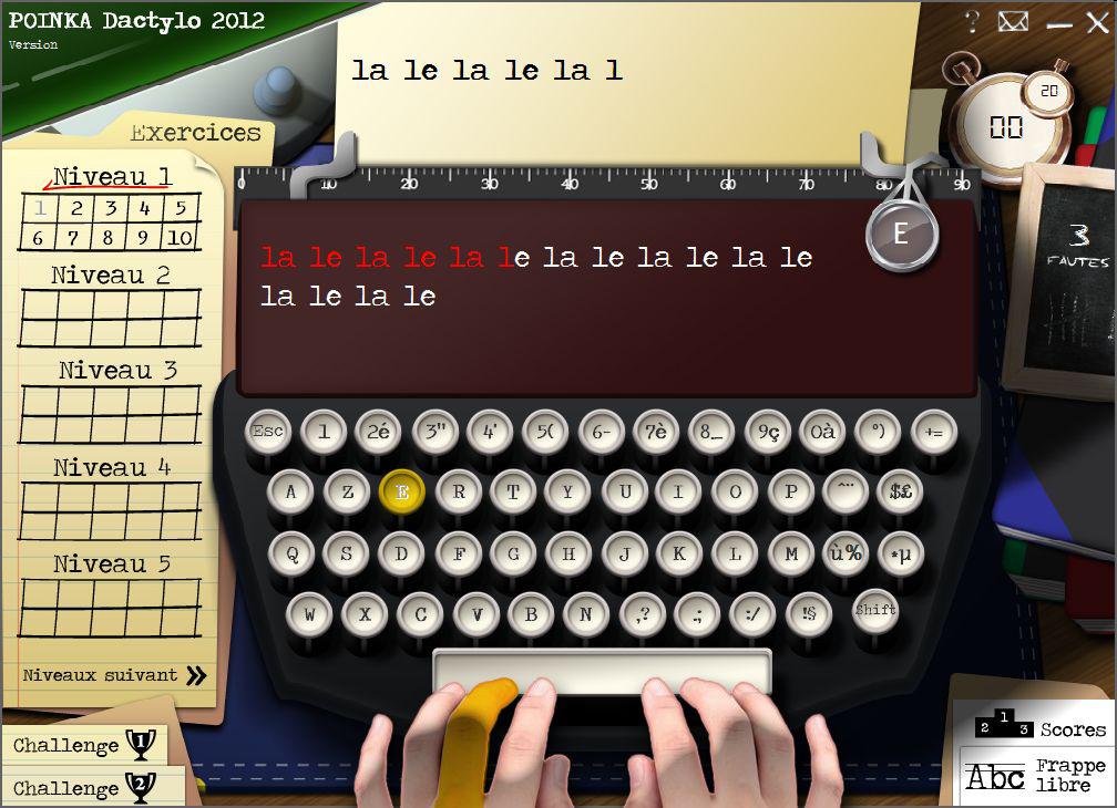 Capture d'écran Dactylo