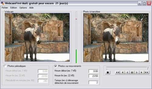 Capture d'écran WebcamFirst Mail