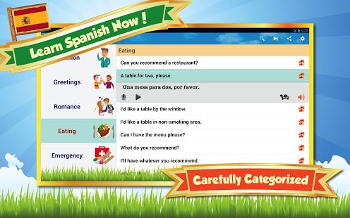 Capture d'écran Apprendre l'espagnol Android