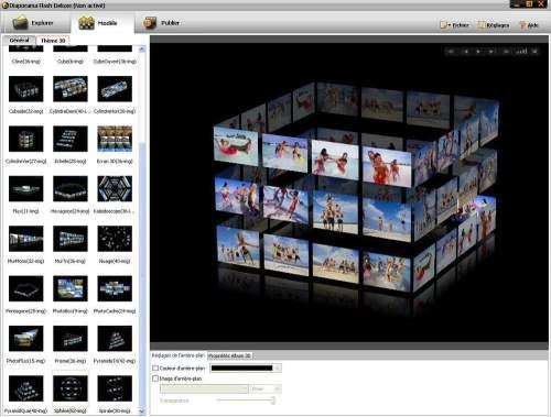 Capture d'écran Galeries Photos 3D Flash