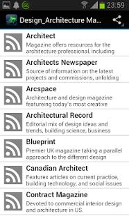 Capture d'écran Design Architecture Magazines