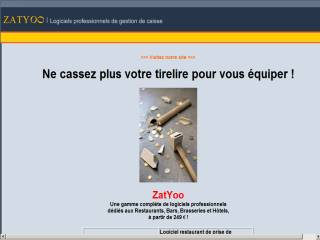 Capture d'écran ZatYoo TouchScreen, BackOffice et Pocket