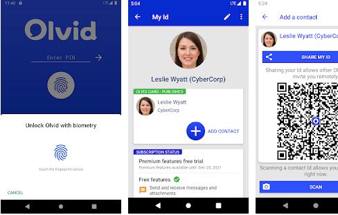 Capture d'écran Olvid Android