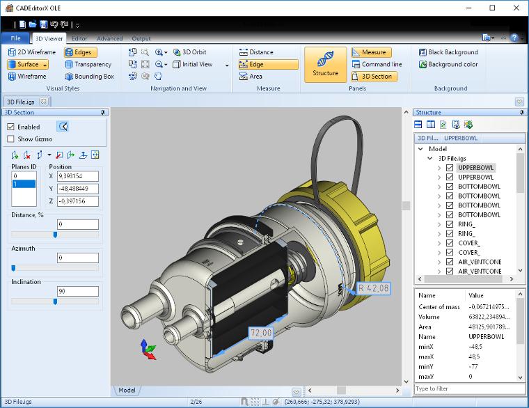 Capture d'écran CAD Export VCL
