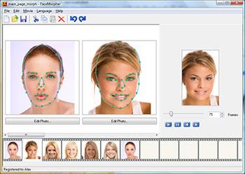 Capture d'écran FaceMorpher