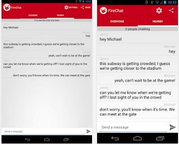 Capture d'écran FireChat Android