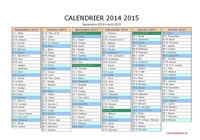 Calendrier 2014/2015