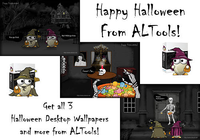 ALTools Haunted House Halloween Desktops