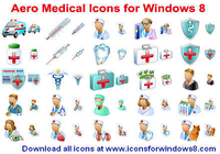 Aero Medical Icons for Windows 8