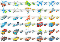 Transport Icons for Vista