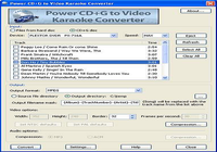 Power CD+G to Video Karaoke Converter