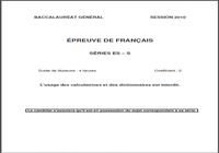 Sujet dissertation bac franais 2006