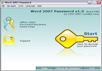 Word 2007 Password