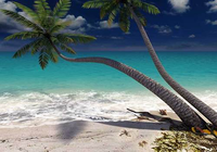 Sandy Beach 3D Screensaver
