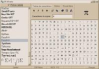T l charger table caracteres gratuit - Table des caracteres windows ...