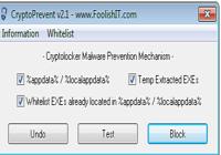 Outil de prévention contre Cryptolocker: Cryptoprevent