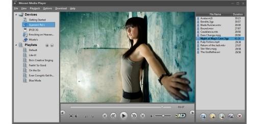 Capture d'écran Movavi 3D Media Player