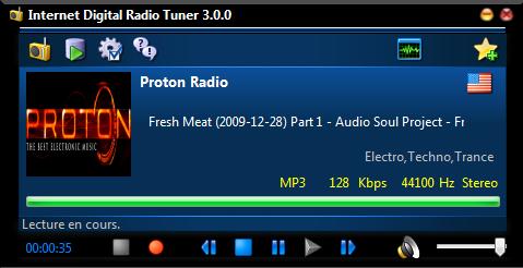 Capture d'écran Internet Digital Radio Tuner