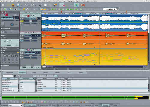 Capture d'écran Samplitude Music Studio