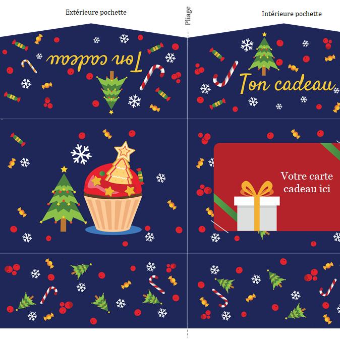 Capture d'écran Pochette carte cadeau de Noël