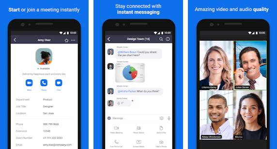 Capture d'écran Zoom Android – Unternehmensvideokonferenzen