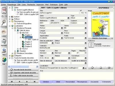 Capture d'écran EuroThink BDThèque