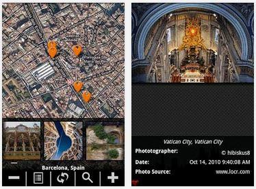 Capture d'écran Voyage Virtuel Android