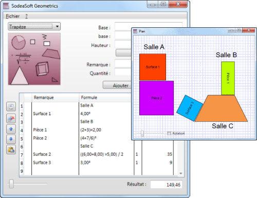 Capture d'écran SodeaSoft Geometrics