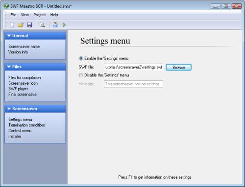 Capture d'écran SWF Maestro SCR