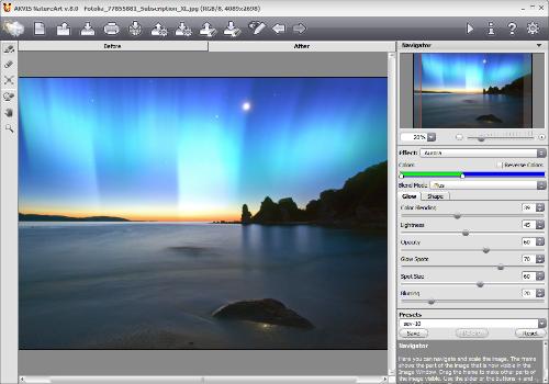 Capture d'écran AKVIS NatureArt
