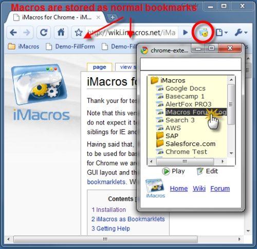 Capture d'écran iMacros for Chrome