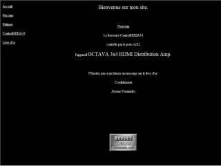 Capture d'écran ControlHDDA34