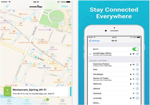 Capture d'écran Instabridge Code Wifi Gratuit iOS