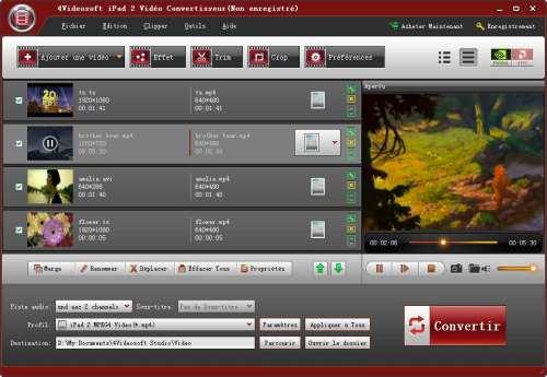 Capture d'écran 4Videosoft iPad 2 Vidéo Convertisseur