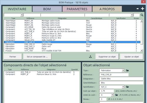 Capture d'écran BOM-Pratique