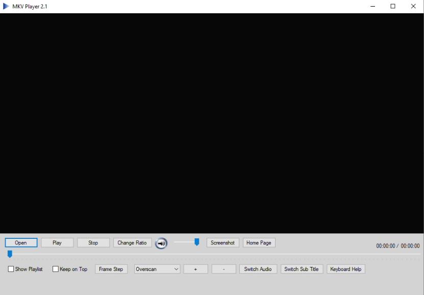 Capture d'écran MKV Player