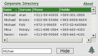 Capture d'écran Corporate Directory