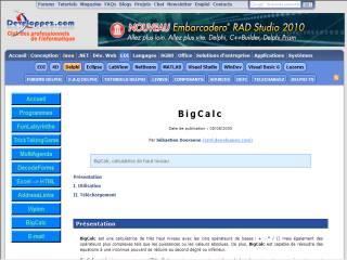 Capture d'écran BigCalc