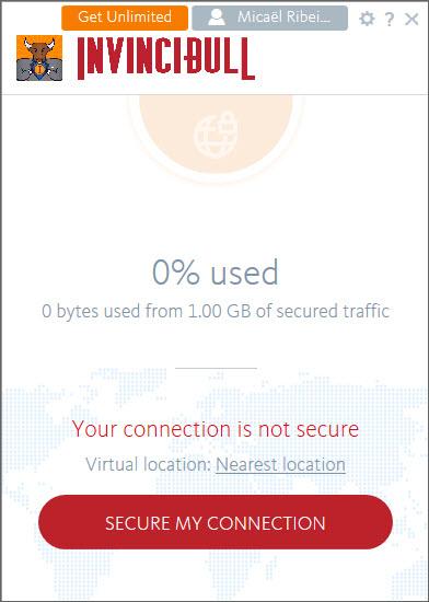 Capture d'écran InvinciBull VPN Mac