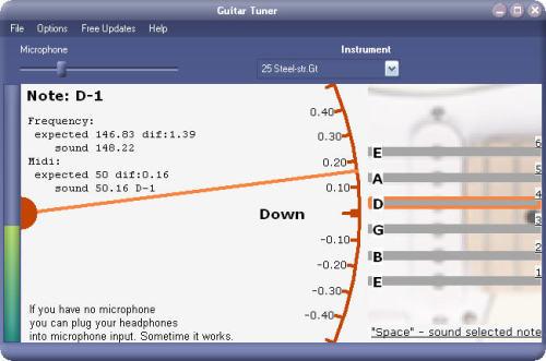 Capture d'écran Xitona Guitar Tuner