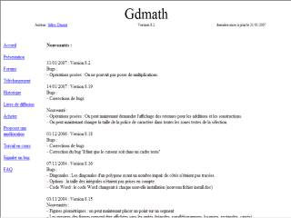 Capture d'écran Gdmath